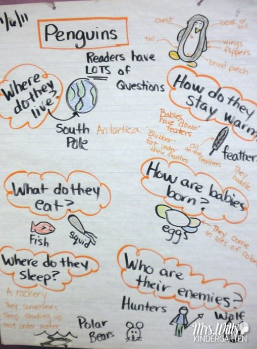 Penguin learning in kindergarten is a blast! Check out our week of reading and learning about penguins. Last week we started our Non-fiction unit on penguins. We read numerous books about penguins and monitored our thinking. Books such as: