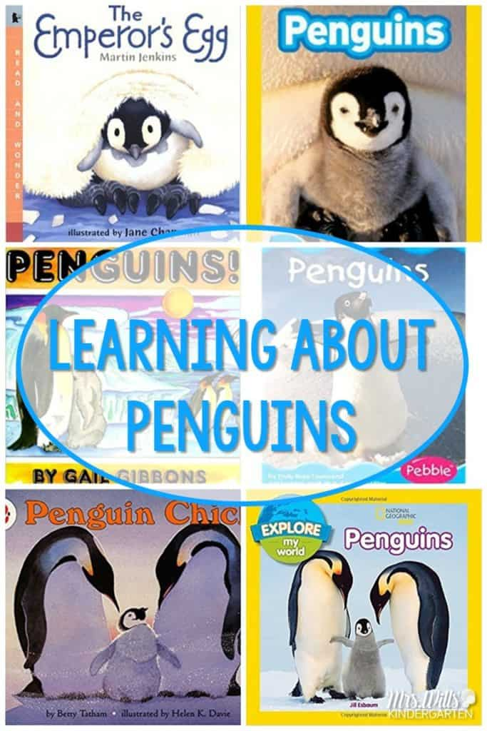 Learning About Penguins in Kindergarten! Anchor charts, book recommendations, and science lesson too!