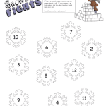 Snowball Fight Math Station