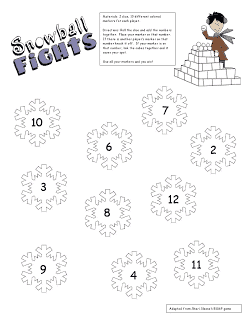 Snowball Fight Math Station