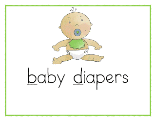 Baby Diapers: b and d reversals