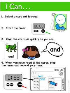Sight word fluency center