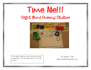 Time Me!!! Sight Word Fluency RD