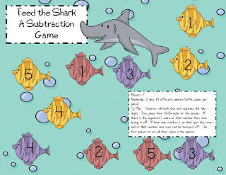 Shark's Dinner-A Subtraction Game and a Give-Away RD