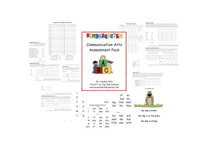 Kindergarten Communication Arts Assessment Pack