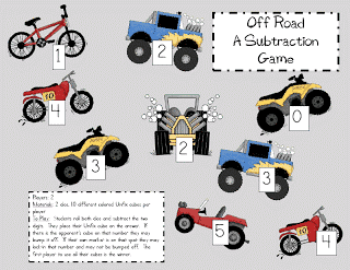 Off Roading Subtraction Game-FREE