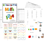Kindergarten Common Assessments-Math