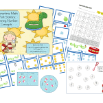 Summertime Math Work Stations-FREEBIE Beginning Number Concepts