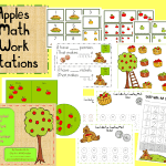 Apples Math Work Stations