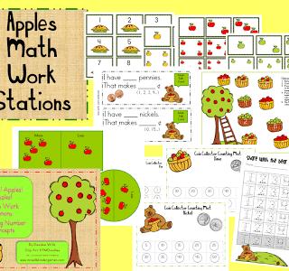 Apples Math Work Stations