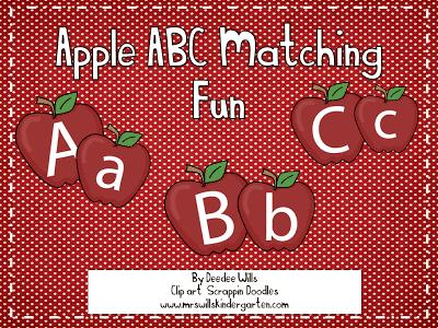 ABC Apple-ious!  FREEBIE