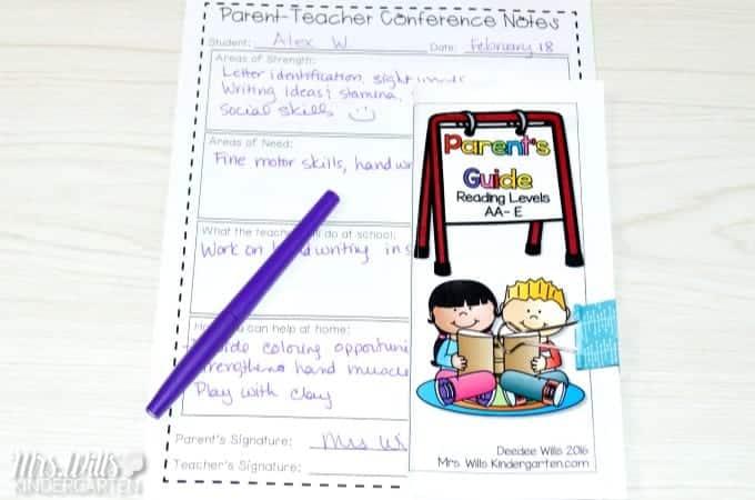 Free Parent Teacher Conference Forms