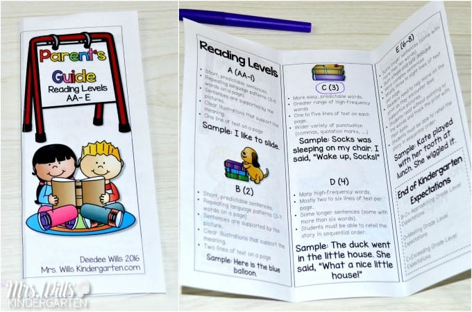 Parent Teacher Conference Forms Guided Reading Parent Guide