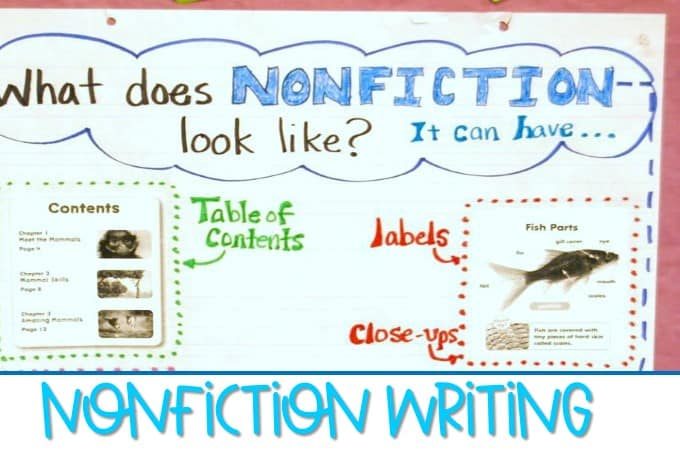 Nonfiction Writing In Kindergarten Anchor Charts For Informational Textodel Writers Work