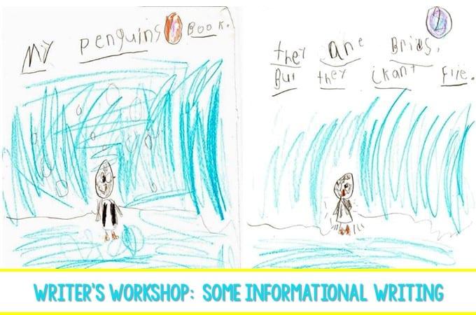Writer's Workshop:  Some Informational Writing