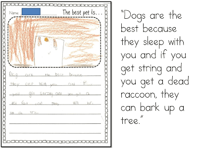 Writing Opinions in kIndergarten