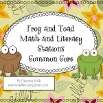 Frog and Toad Common Core Literacy Stations