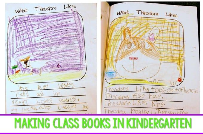 Making a Class Book in Kindergarten