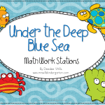 Under the Deep Blue Sea Math Stations-Flash Giveaway