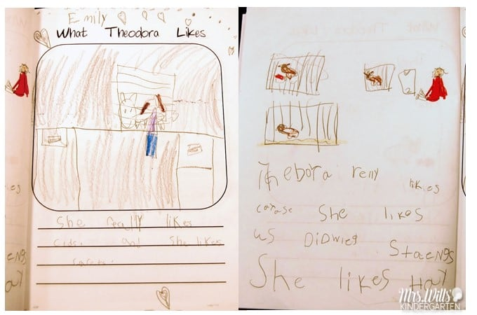 Making Class Books in kindergarten with my students. We had to say good-bye to our class beloved pet. So we wrote a book to her new parents.