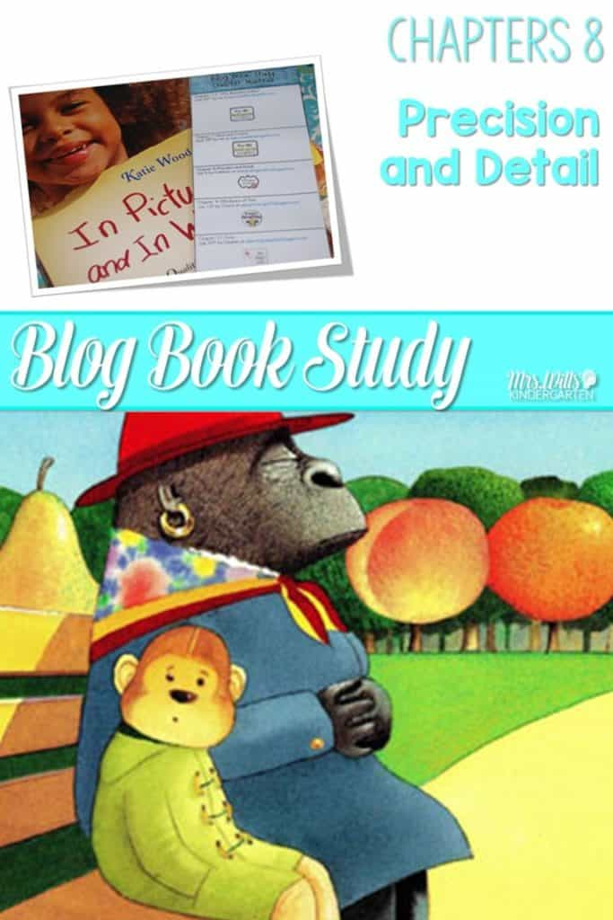 Writers workshop illustrative studies details! In Pictures and in Words Chapters 8 is about writing details with mentor texts resources to teach writing to kindergarten and first-grade students.