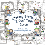 "Literacy Station ""I Can"" Task Cards Flash Giveaway and FREEBIE"