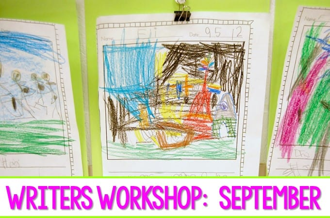 Kindergarten Writing in September. We have made progress in writers workshop. Take a peek at student writing samples!