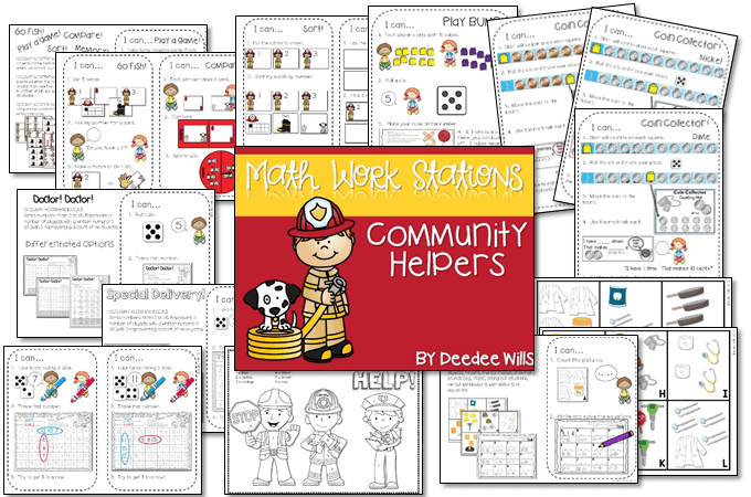 Fire Safety Week and a Free Emergent Reader that is perfect for kindergarten. Arts, crafts, snacks, math and reading lessons included!
