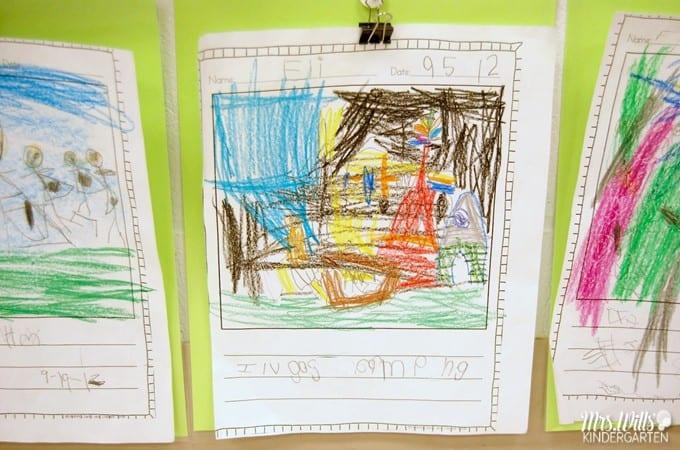 Kindergarten Writing in September. We have made progress in writers workshop. Take a peek at student writing samples!