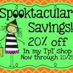 Spooky Sale!   20% offf