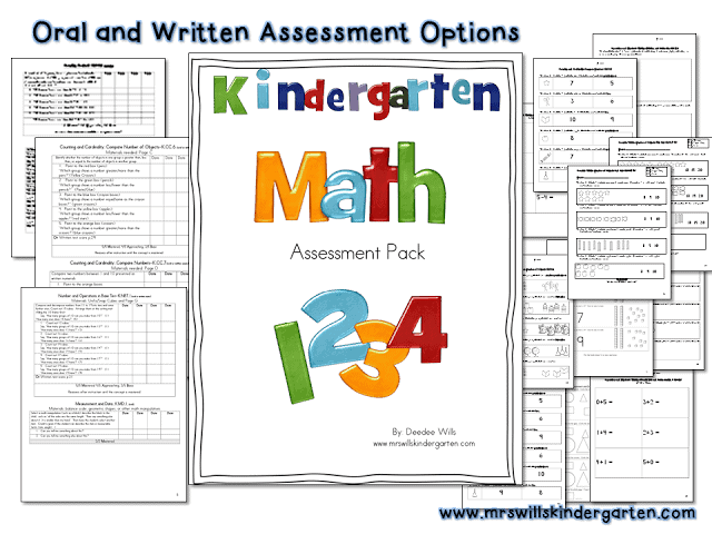 Assessment for kindergarten math