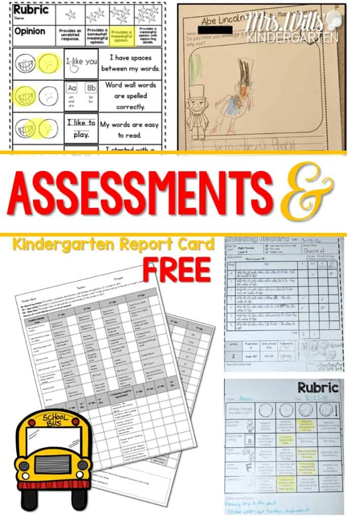 Kindergarten report card free printable download file. These assessments and this report card is aligned with the common core state standards. See how I work assessment into my day without stopping instruction.on.