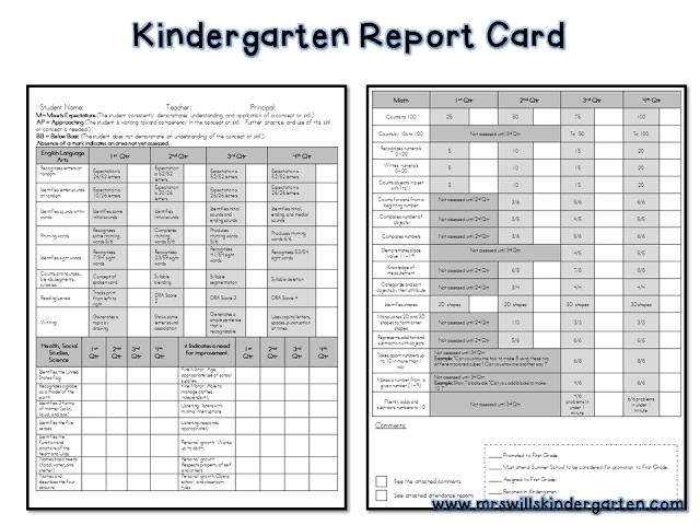 report card template free 28 images sle homeschool report card