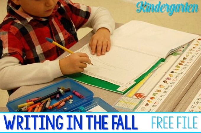 Kindergarten Writers Workshop Fall examples are included in this post. Students have been working writing narrative texts and creating books. Here is a glimpse of what their November writing looked like. There is a free file included for you.