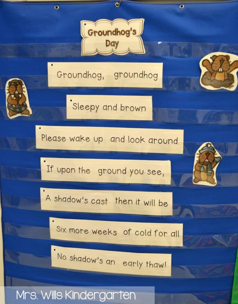 Groundhog Day poem and song for kindergarten