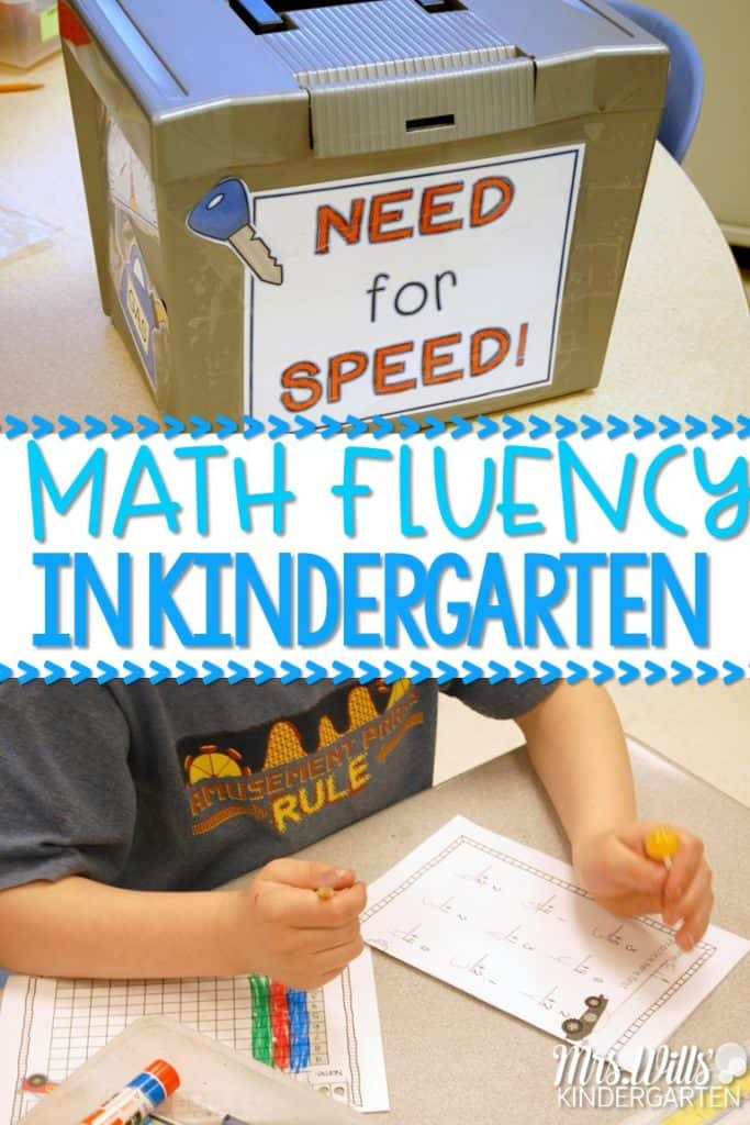 Math Fluency in Kindergarten! Wondering how to help your students achieve addition and subtraction fluency! These daily math practice skills are FAST! Easy to work into your classroom instruction now!