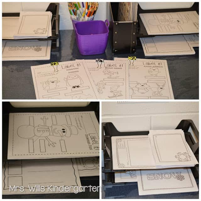 New Year Kindergarten Resources with the writing station, poetry, and sentence writing.