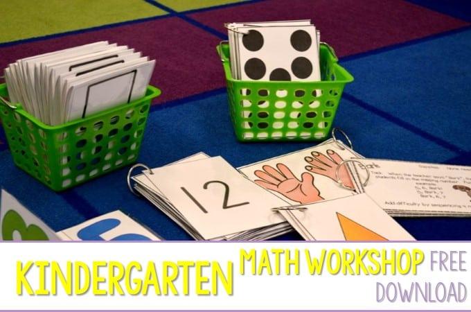 Kindergarten Math Workshop + Freebies = Happy! Happy!