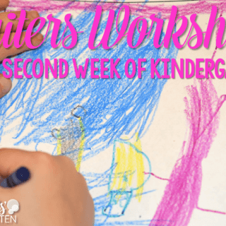 Writers Workshop:  Second Week of Kindergarten