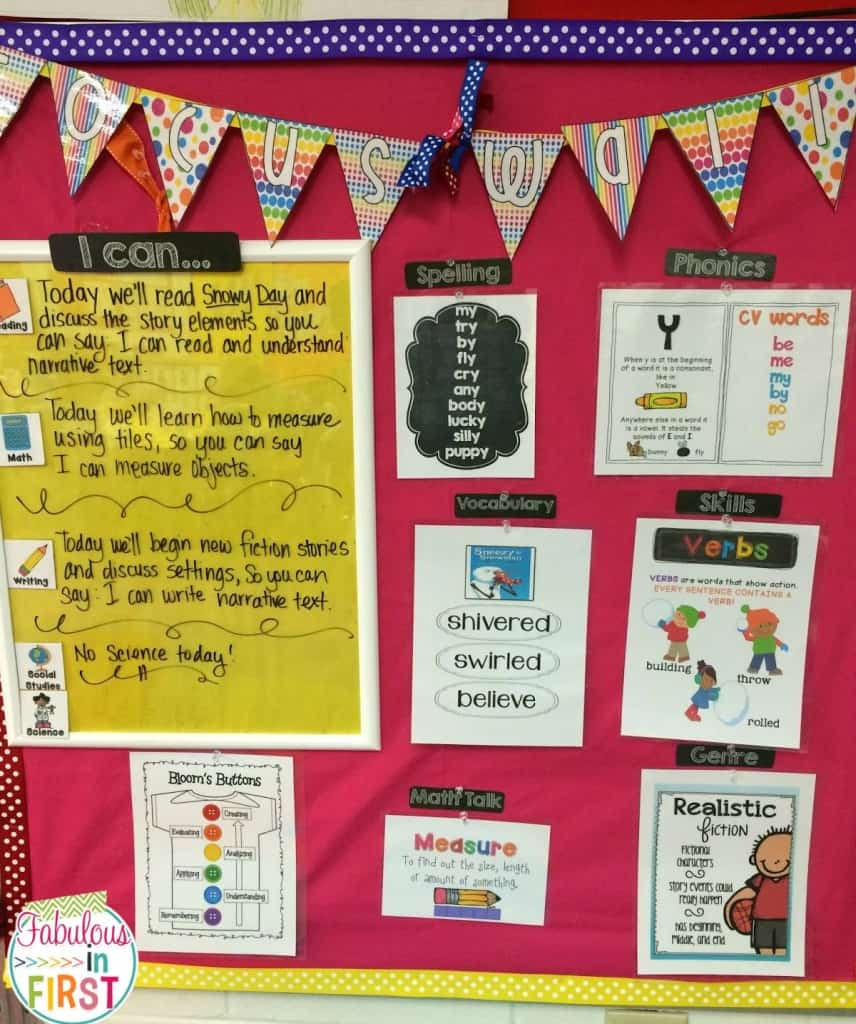Focus Wall: Focus! Deedee! Focus! - Mrs. Wills Kindergarten
