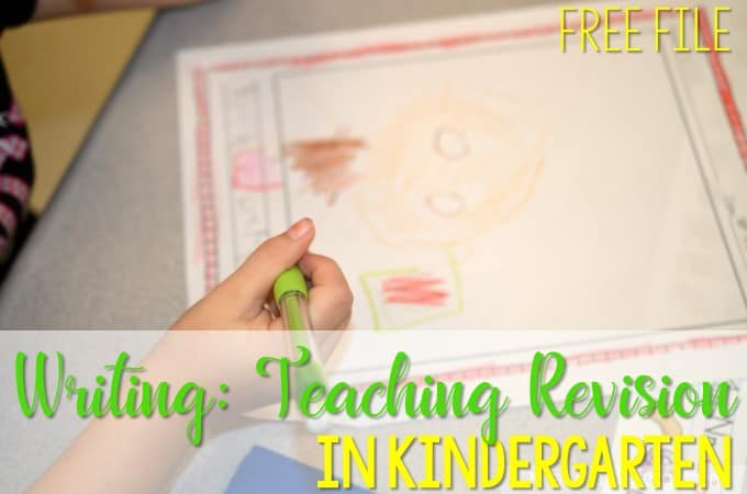 Writing:  revising and conferring in kindergarten