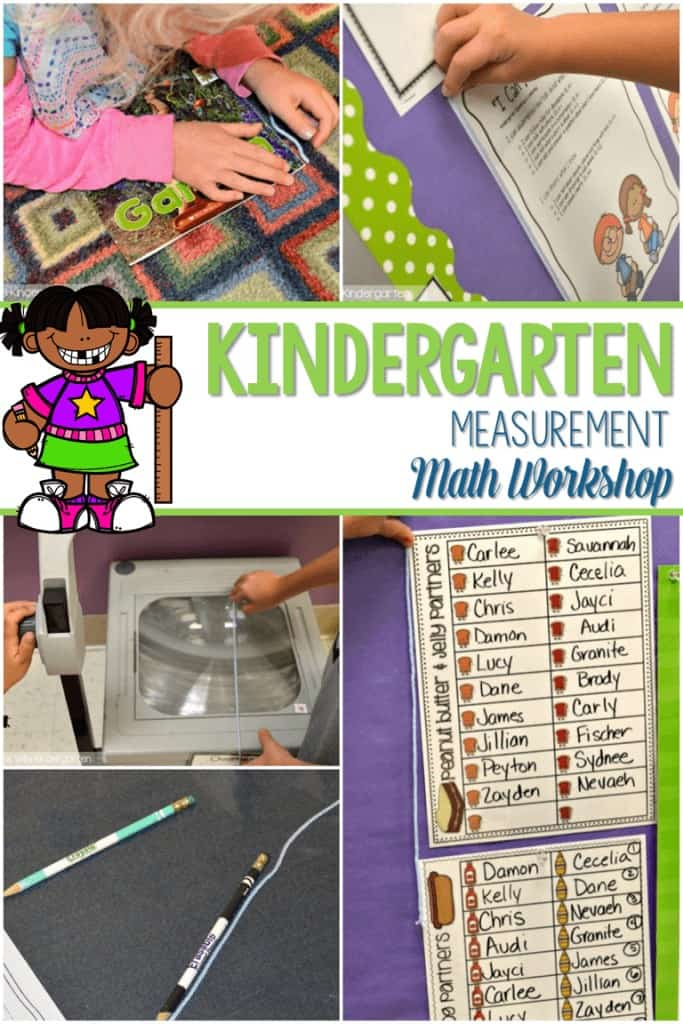 kindergarten math workshop measurement was so much fun! We are working on measurement and my students loved it! Hands-on math is our favorite way to learn!