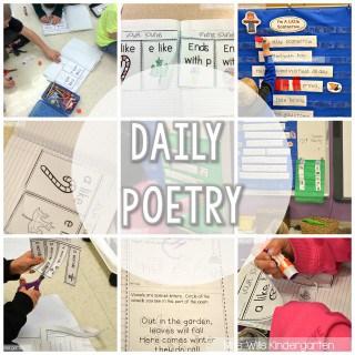 Peek at my week… Poetry, word walls, and Indiana