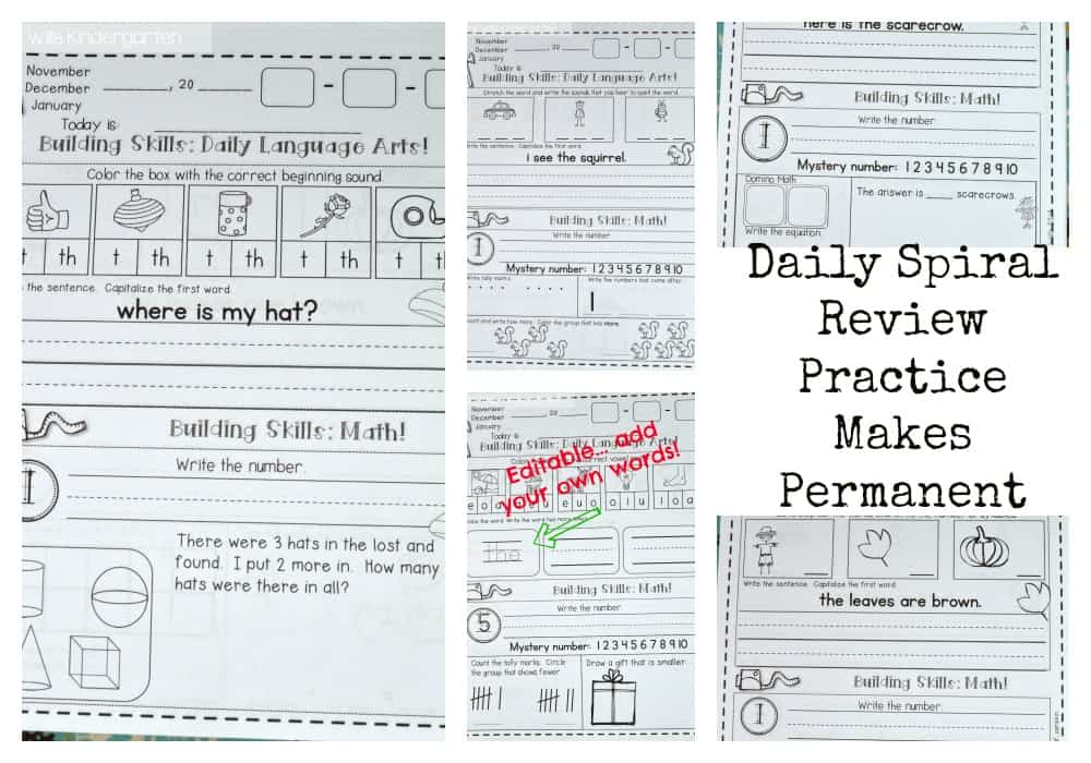 Daily Spiral Review - Mrs. Wills Kindergarten