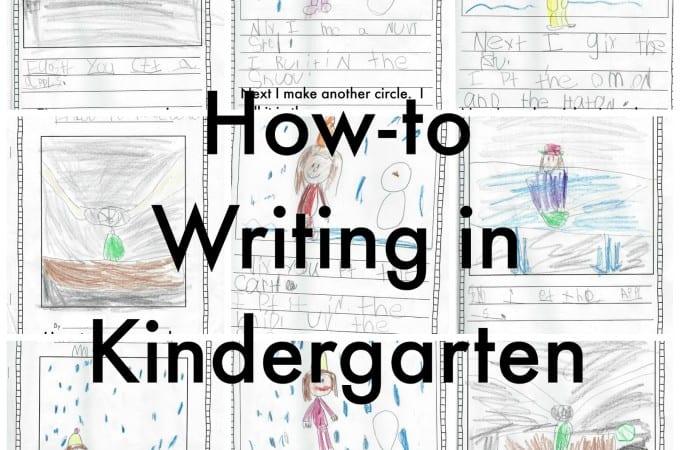 How-To Writing in Kindergarten