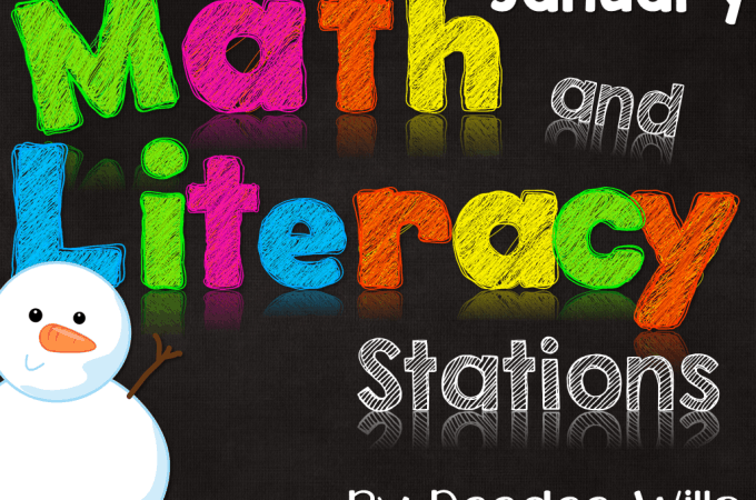 Math and Literacy Stations for January-25% discount today only
