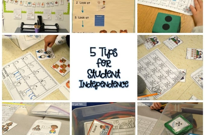 5 tips for Student Independence (Free Download)