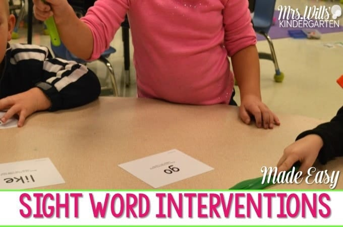 Sight Word Interventions!