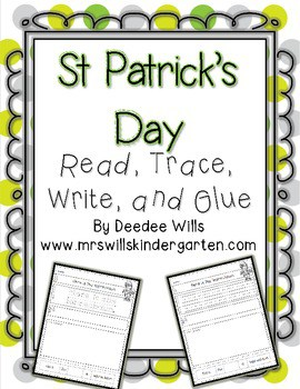 Check out these downloadable, printable kindergarten St. Patrick's Day resources, including math and reading activities, for your classroom!
