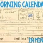 Building Skills:  Our Calendar Time